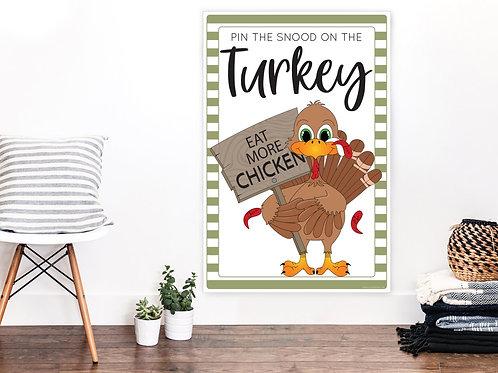 Printable Pin The Snood On The Turkey