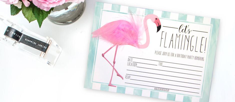 DIY Flamingo Birthday Party With FREE Printable Items