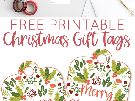 Merry Christmas Printable Gift Tags