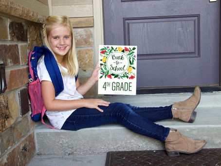 Floral Printable First Day Of School Milestone Signs