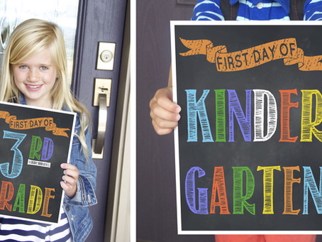 Chalkboard FREE First Day Of School Signs