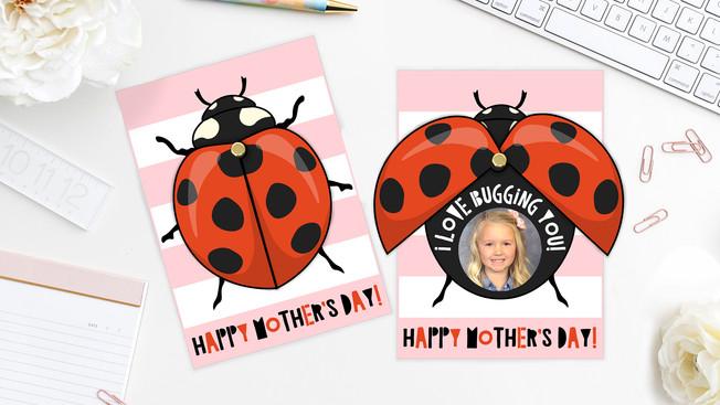Ladybug Mother's Day Card