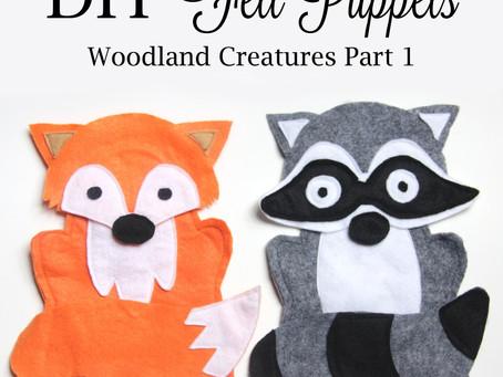 DIY Felt Fox & Raccoon Hand Puppets