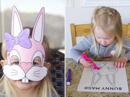 Printable Bunny Masks