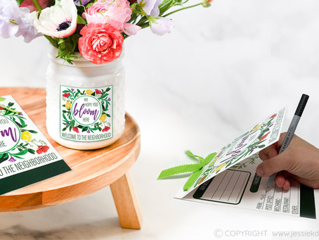 We Hope You Bloom Here New Neighbor Gift