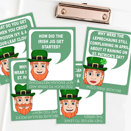 Printable St. Patrick's Day Joke Cards