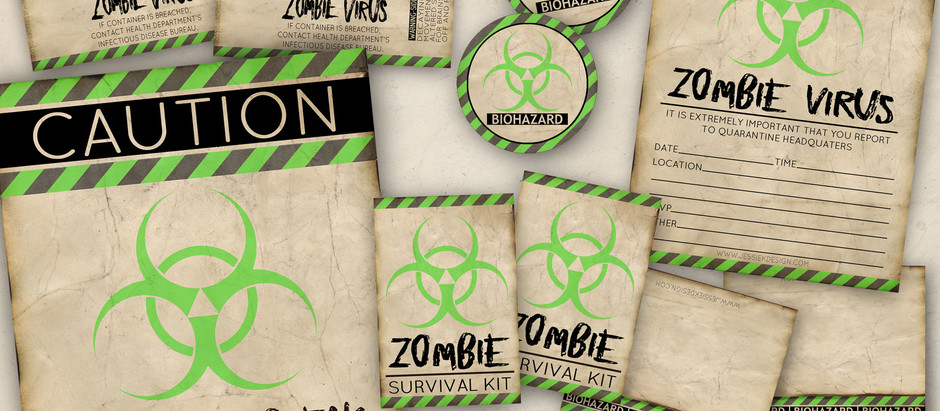 Zombie Party Printables