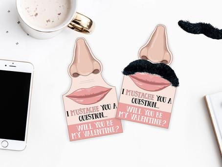 Mustache Valentine's Day Gift Tag