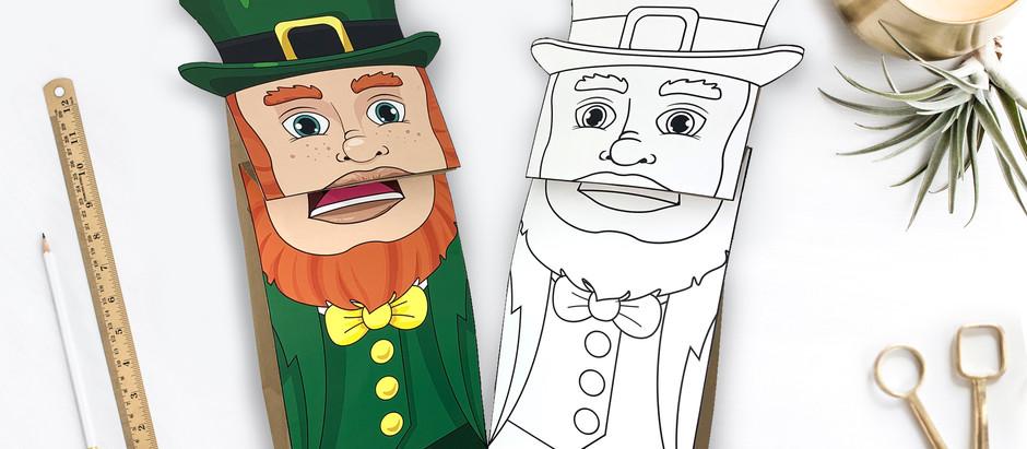 Leprechaun Paper Bag Puppets