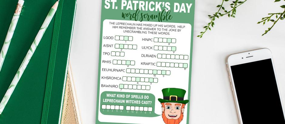 St. Patrick's Day Printable Word Scramble