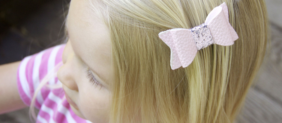 No-Sew Faux Leather Hair Bows