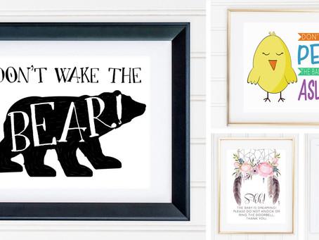 7 FREE Baby Sleeping Printable Signs