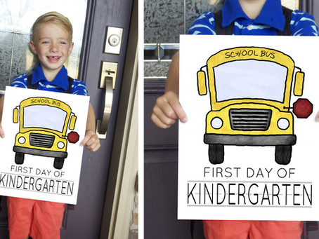 School Bus FREE First Day Of School Signs