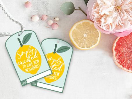 Lemonade New Neighbor Gift Tag