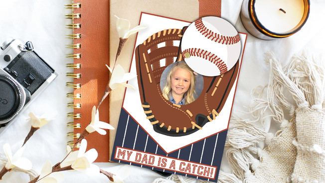 My Dad Is A Catch Printable Father's Day Card