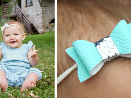 No-Sew Faux Leather Baby Headbands