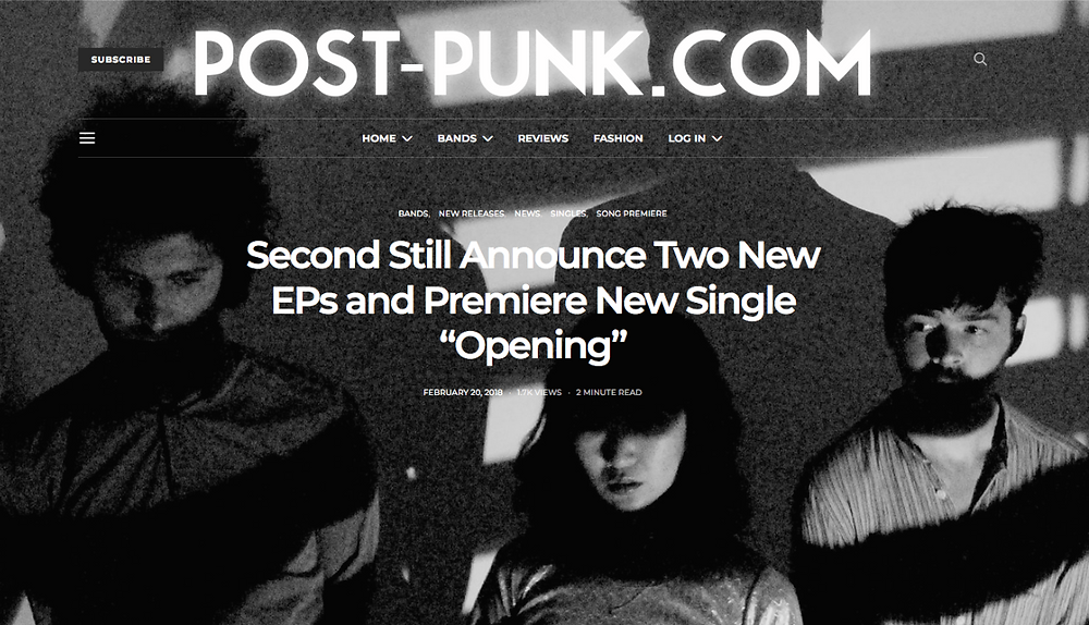 """Second Still Announce Two New EPs and Premiere New Single """"Opening"""""""