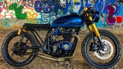 cb550 with the custom seat