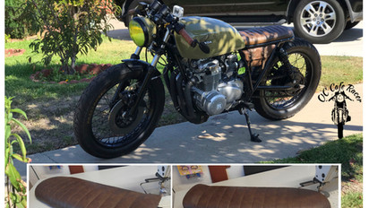 CB550 WITH THE CATERPILLAR A SEAT