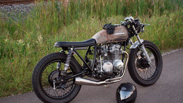 CB550 WITH THE CATERPILER B SEAT