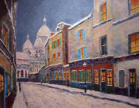 Paris Street Scene by James Scoppettone