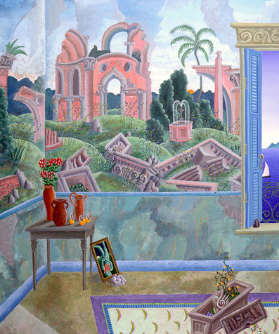 Renaissance Fresco by Thomas Mcknight