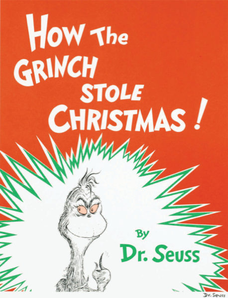 'How the Grinch Stole Christmas' Cover Illustration by Dr. Seuss