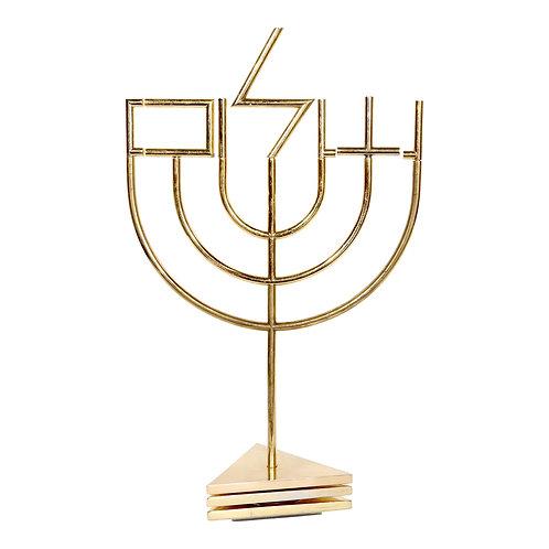 Tri-Base-Shalom-Menorah by Yaacov Agam
