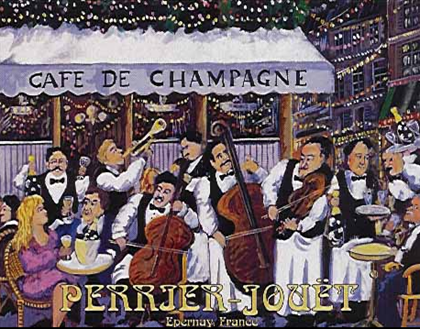 Café De Champagne by Guy Buffet
