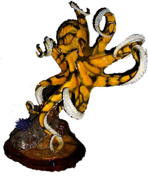 Octopus (medium yellow) by Chris Barela