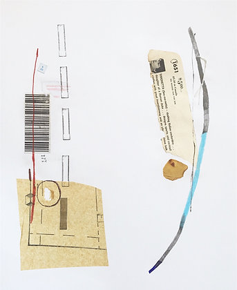 Untitled (barcode petal)