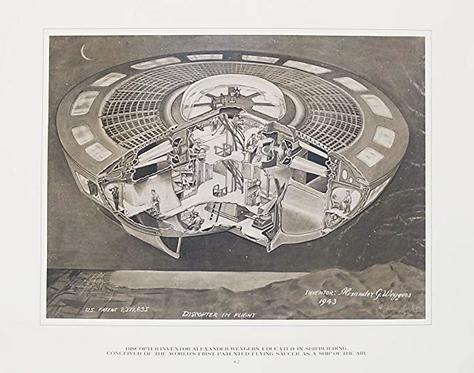 Discopter In Flight by Alexander Weygers