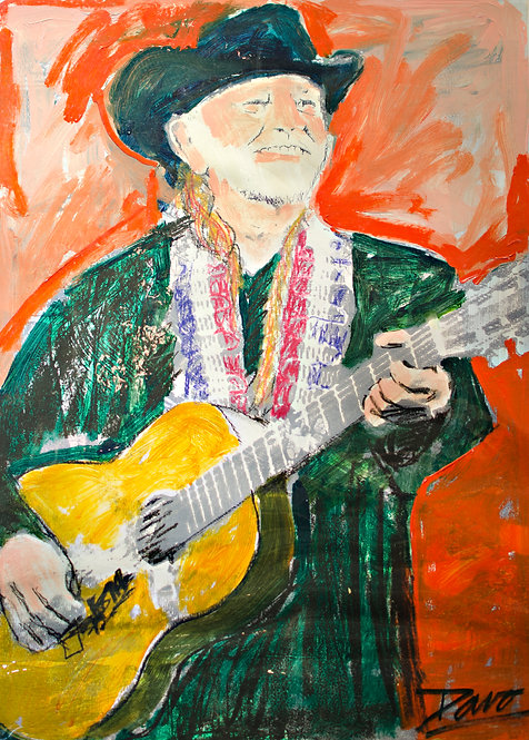 Willie Nelson by Davo