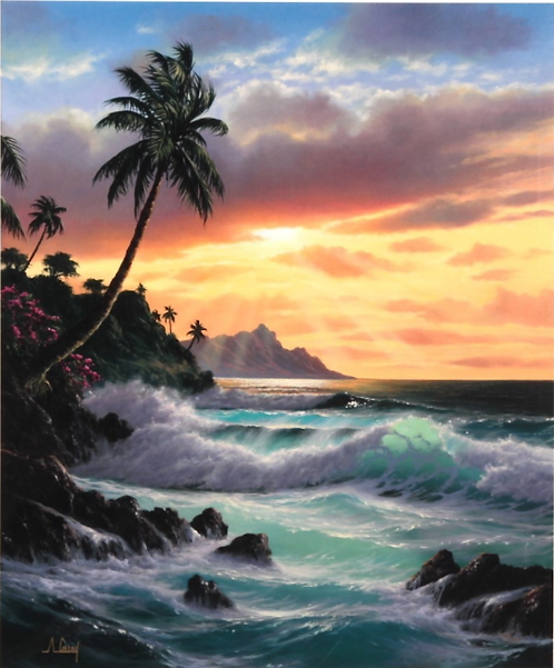 Tropical Sunrise by Anthony Casey