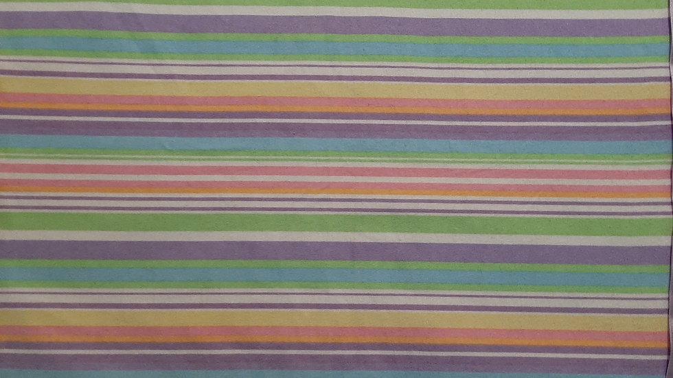 "Rainbow bit flannel blanket 42""×42"""