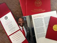 Inauguration event package for Dr. Christopher Howard, Robert Morris University