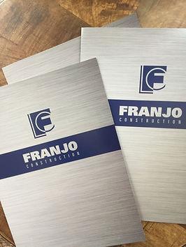 Franjo Construction pocket folder with steel image printed across folder