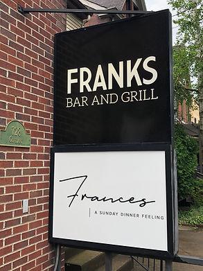 Franks signage