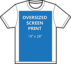 Oversize screen print size