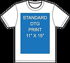 Standard print dtg 11 x 15