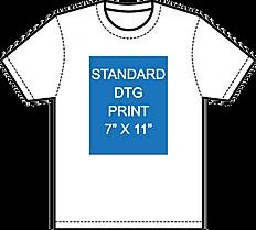 Standard dtg 7 x 11 print size