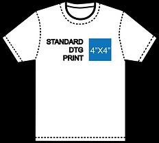 DTG 4 x 4 print size