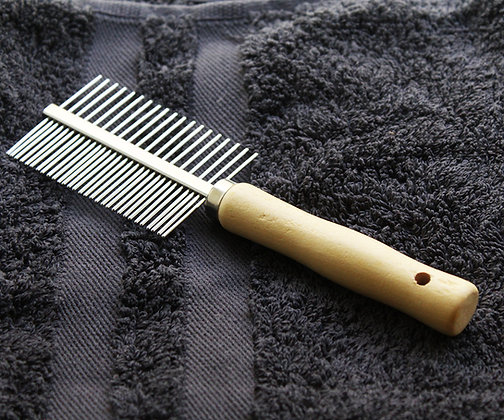 Double Sided Wooden Pet Comb