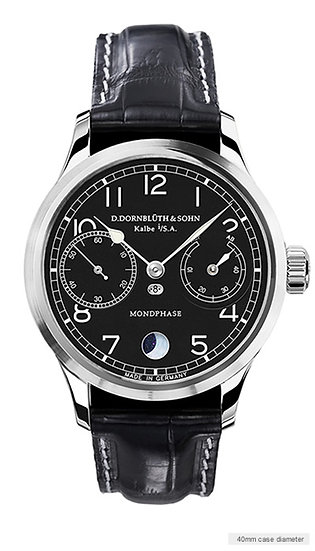 Dornblüth & Sohn 99.6-M Moon Phase black dial