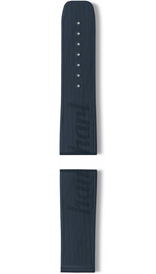 Hanhart vulcanised rubber band, blue, 24mm