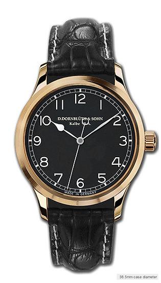 Dornblüth & Sohn Quintus Centre Second Rose Gold Black Dial