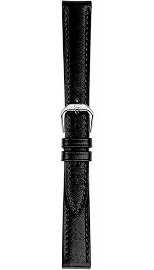 Sinn cow hide strap, black, softened, 14mm (ladies)