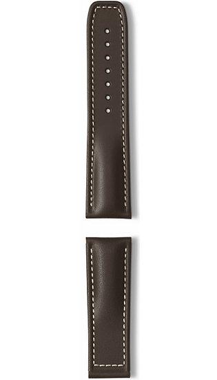 Hanhart calfskin leather band, brown, 24mm