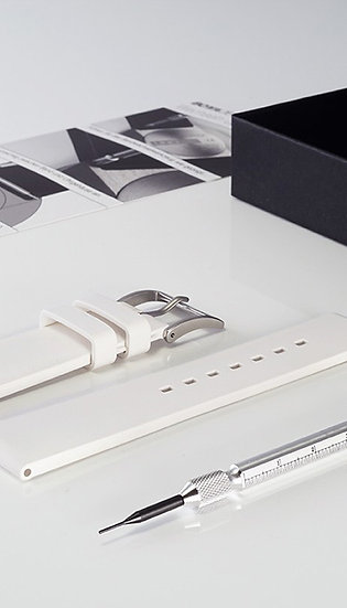 Botta-Design Silicone Band white, 22mm