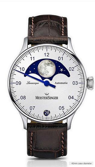 MeisterSinger Lunascope Opaline-silver LS901